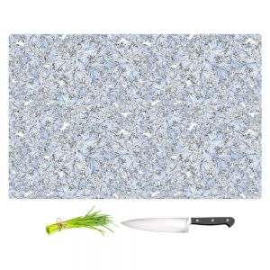 Artistic Kitchen Bar Cutting Boards | Julia Grifol - Blue Flowers