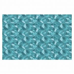 Decorative Floor Coverings | Julia Grifol Blue Leaves