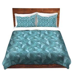 Artistic Duvet Covers and Shams Bedding | Julia Grifol - Blue Leaves I