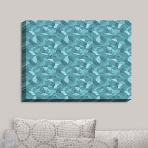 Decorative Canvas Wall Art | Julia Grifol - Blue Leaves I