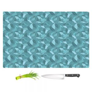 Artistic Kitchen Bar Cutting Boards | Julia Grifol - Blue Leaves