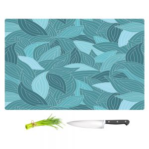 Artistic Kitchen Bar Cutting Boards | Julia Grifol - Blue Leaves II