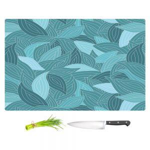 Artistic Kitchen Bar Cutting Boards | Julia Grifol - Blue Leaves II