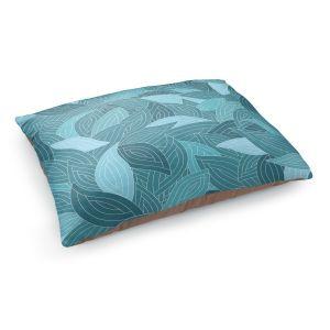 Decorative Dog Pet Beds | Julia Grifol Blue Leaves II
