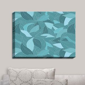 Decorative Canvas Wall Art | Julia Grifol - Blue Leaves II