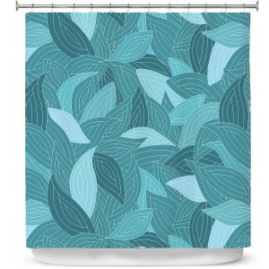 Premium Shower Curtains | Julia Grifol Blue Leaves II