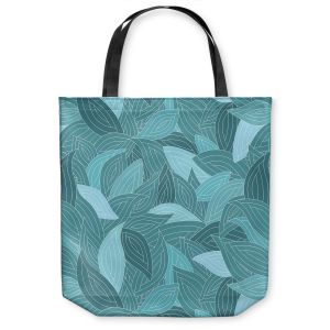 Unique Shoulder Bag Tote Bags | Julia Grifol Blue Leaves II