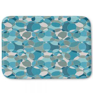 Decorative Bathroom Mats | Julia Grifol - Bubbles Blue | Shapes pattern colors circles graphic