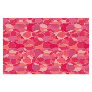Decorative Floor Covering Mats | Julia Grifol - Bubbles Pinks | Shapes pattern colors circles graphic