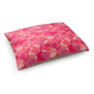 Decorative Dog Pet Beds | Julia Grifol - Bubbles Pinks | Shapes pattern colors circles graphic