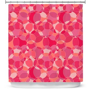 Premium Shower Curtains | Julia Grifol - Bubbles Pinks | Shapes pattern colors circles graphic