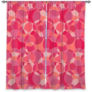 Decorative Window Treatments   Julia Grifol - Bubbles Pinks   Shapes pattern colors circles graphic