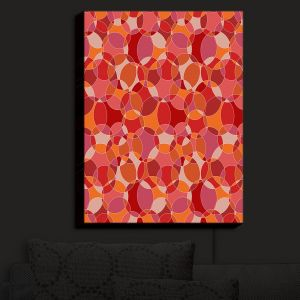 Nightlight Sconce Canvas Light | Julia Grifol - Bubbles Red