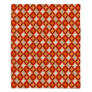 Decorative Fleece Throw Blankets | Julia Grifol - Circles Red