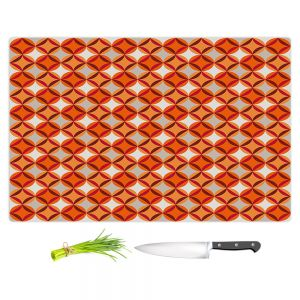 Artistic Kitchen Bar Cutting Boards | Julia Grifol - Circles Red