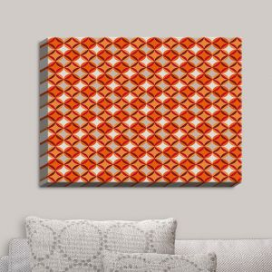 Decorative Canvas Wall Art | Julia Grifol - Circles Red | Patterns