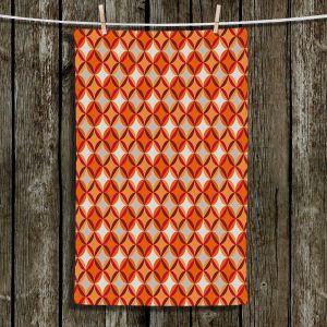 Unique Hanging Tea Towels | Julia Grifol - Circles Red | Patterns