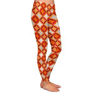 Casual Comfortable Leggings   Julia Grifol - Circles Red