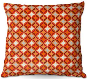 Decorative Outdoor Patio Pillow Cushion   Julia Grifol - Circles Red