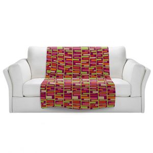 Artistic Sherpa Pile Blankets | Julia Grifol - Colourful Rectangles