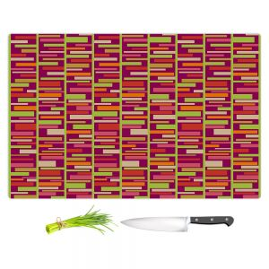 Artistic Kitchen Bar Cutting Boards | Julia Grifol - Colourful Rectangles
