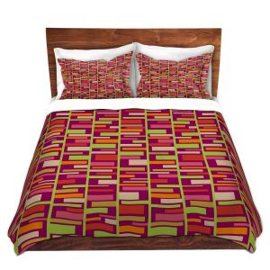 Artistic Duvet Covers and Shams Bedding   Julia Grifol - Colourful Rectangles