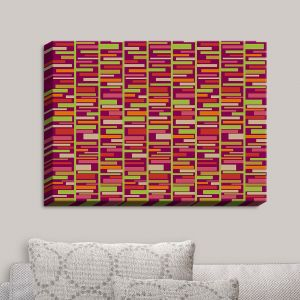 Decorative Canvas Wall Art | Julia Grifol - Colourful Rectangles | Patterns