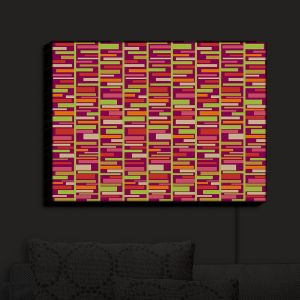 Nightlight Sconce Canvas Light | Julia Grifol - Colourful Rectangles | Patterns