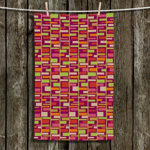 Decorative Hand Towel from DiaNoche Designs by Julia Grifol - Colourful Rectangles