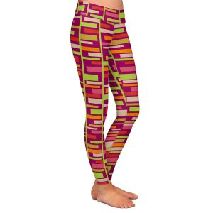 Casual Comfortable Leggings | Julia Grifol - Colourful Rectangles