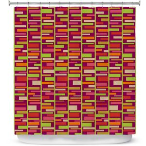 Premium Shower Curtains | Julia Grifol - Colourful Rectangles