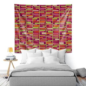 Artistic Wall Tapestry | Julia Grifol - Colourful Rectangles