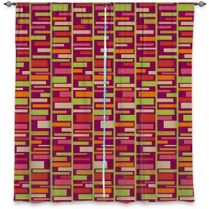 Decorative Window Treatments | Julia Grifol - Colourful Rectangles