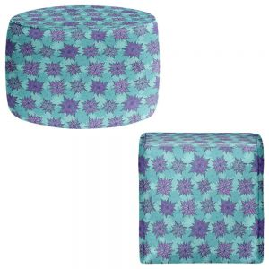Round and Square Ottoman Foot Stools | Julia Grifol - Deco Flowers I
