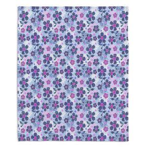 Artistic Sherpa Pile Blankets | Julia Grifol Flowers Mix