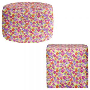 Round and Square Ottoman Foot Stools | Julia Grifol - Happy Garden I
