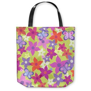 Unique Shoulder Bag Tote Bags | Julia Grifol Happy Garden II