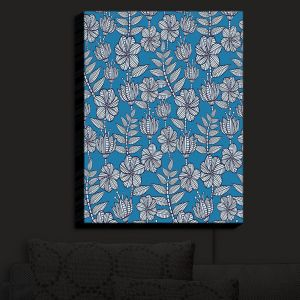 Nightlight Sconce Canvas Light | Julia Grifol - Kenia Blue