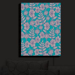 Nightlight Sconce Canvas Light | Julia Grifol - Kenia 1 Green