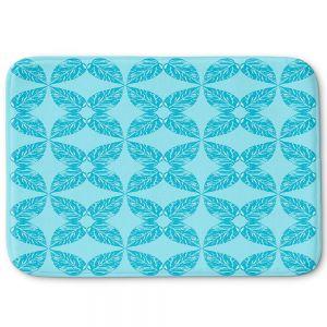 Decorative Bathroom Mats   Julia Grifol - Leaves Blue