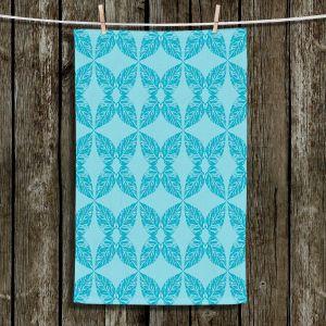 Unique Hanging Tea Towels | Julia Grifol - Leaves Blue | Patterns