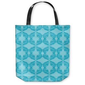 Unique Shoulder Bag Tote Bags | Julia Grifol - Leaves Blue