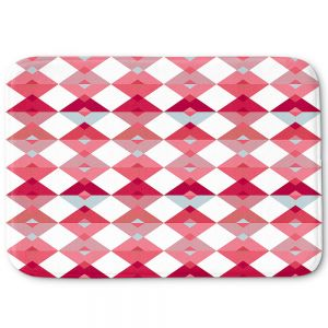 Decorative Bathroom Mats | Julia Grifol - Triangles Pale Pink | Shapes colors pattern graphics