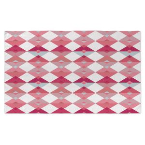 Artistic Pashmina Scarf | Julia Grifol - Triangles Pale Pink | Shapes, colors, pattern, graphics