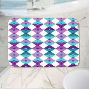 Decorative Bathroom Mats | Julia Grifol - Triangles Purple | Shapes colors pattern graphics