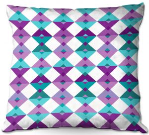 Throw Pillows Decorative Artistic | Julia Grifol - Triangles Purple | Shapes colors pattern graphics