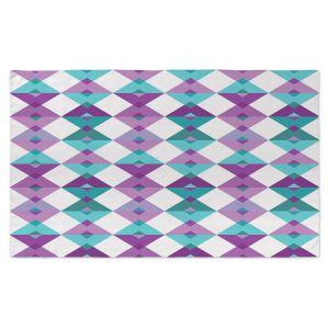 Artistic Pashmina Scarf | Julia Grifol - Triangles Purple | Shapes, colors, pattern, graphics