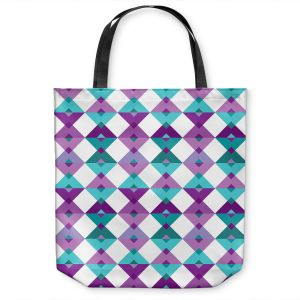 Unique Shoulder Bag Tote Bags | Julia Grifol - Triangles Purple | Shapes colors pattern graphics