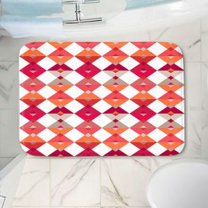 Decorative Bathroom Mats | Julia Grifol - Triangles Red | Shapes colors pattern graphics