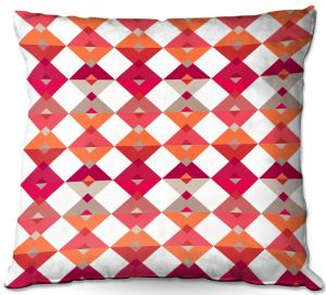 Throw Pillows Decorative Artistic | Julia Grifol - Triangles Red | Shapes colors pattern graphics